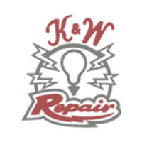 k and w repair logo