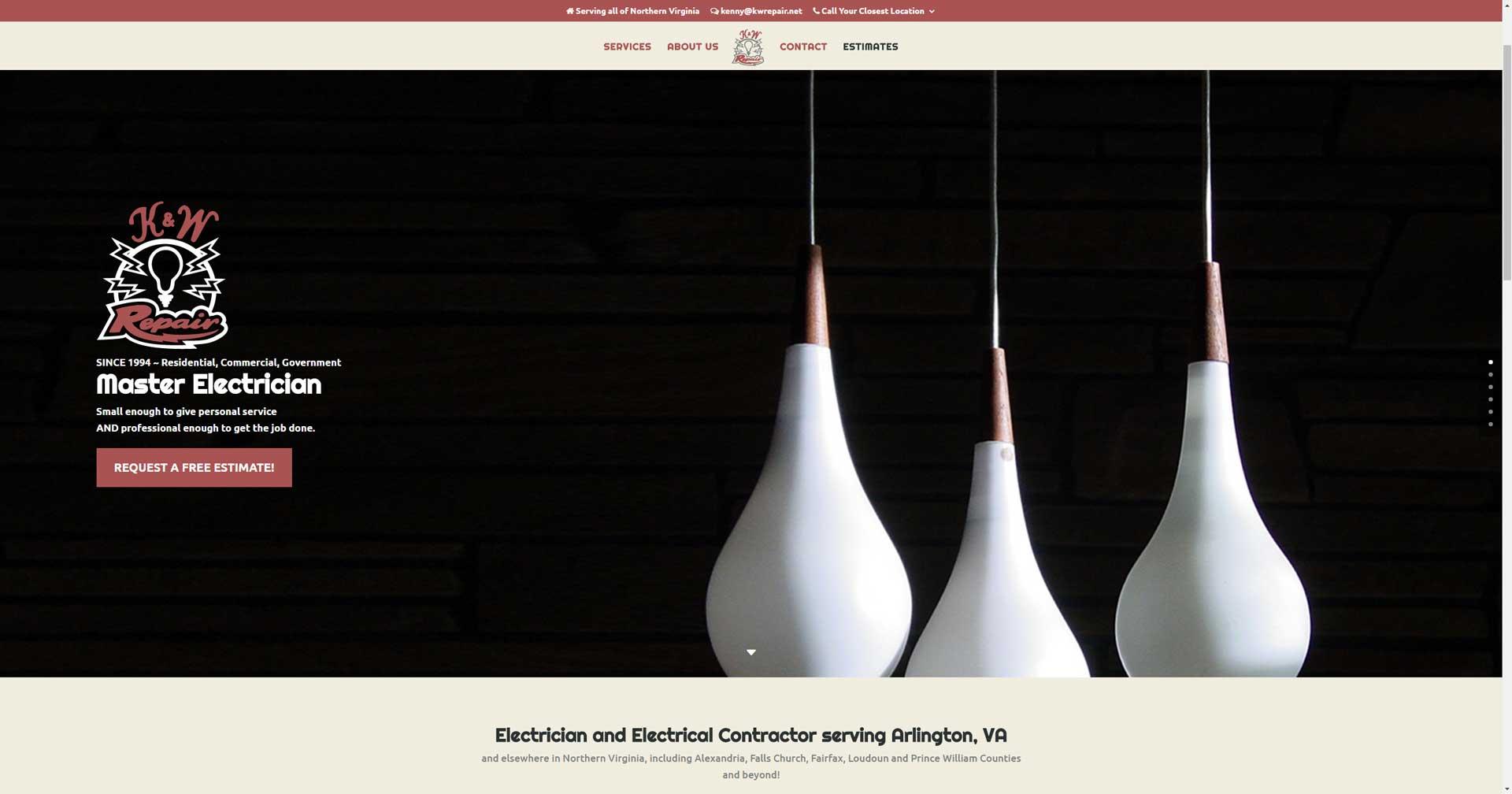 kwrepair.net screenshot