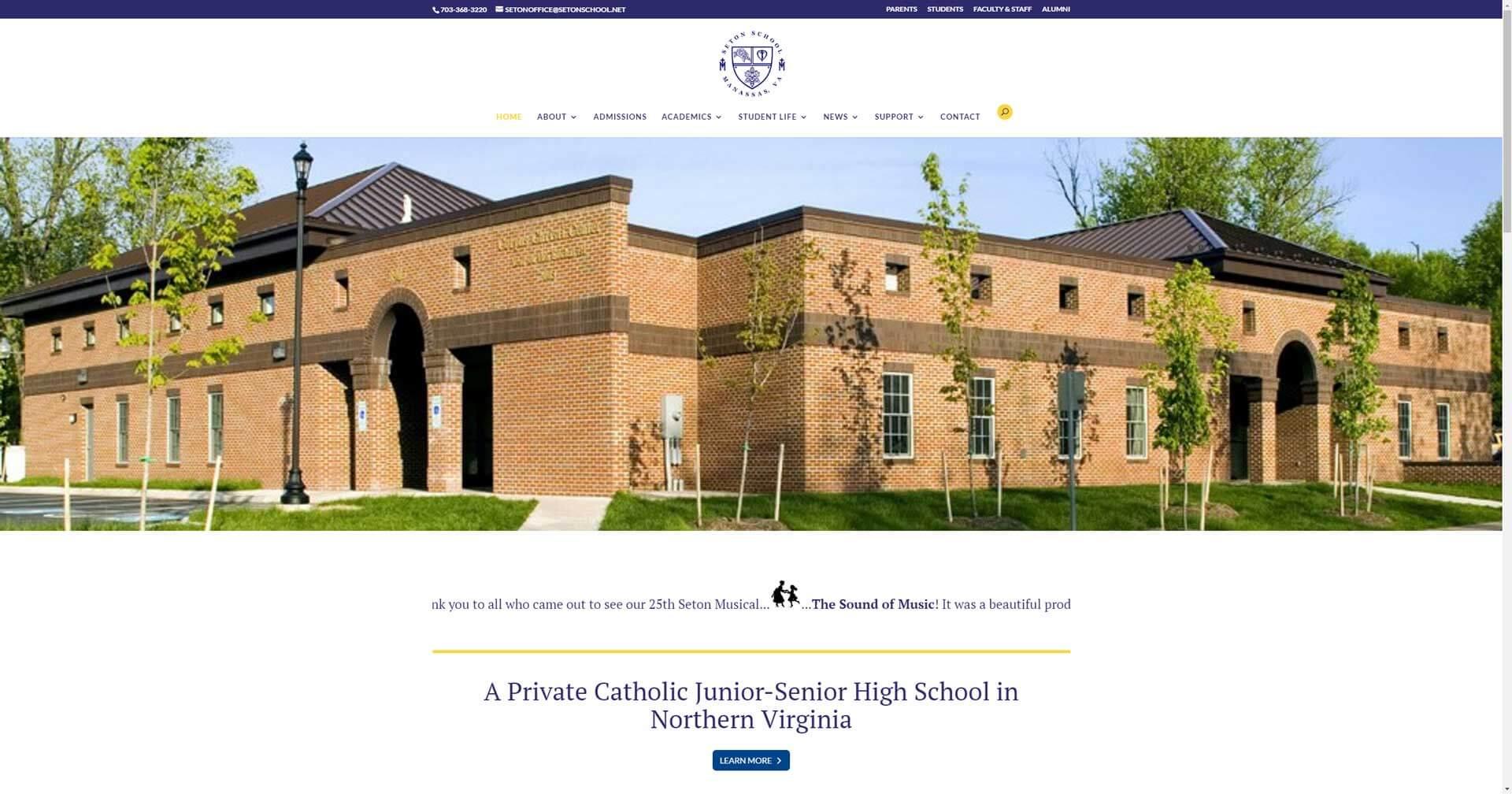 setonschool.net screenshot