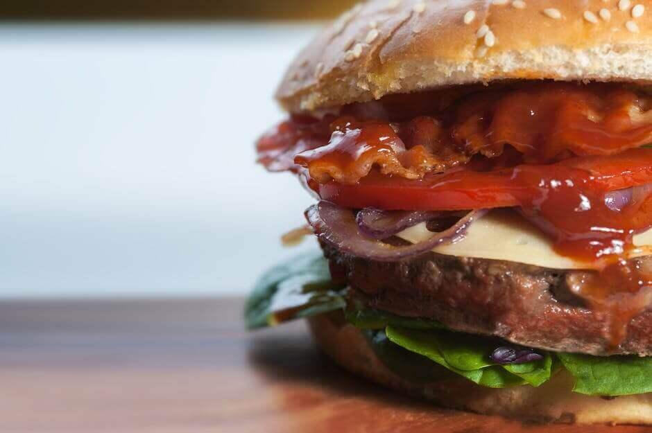 Double Bacon Cavern Burger